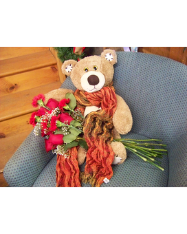 BEAR HUGS Flower Arrangement