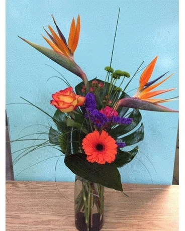 Touch of the Tropics Flower Arrangement