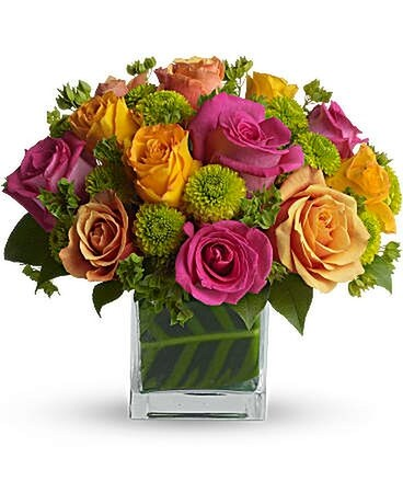 Teleflora's Color Me Rosy Bouquet Flower Arrangement