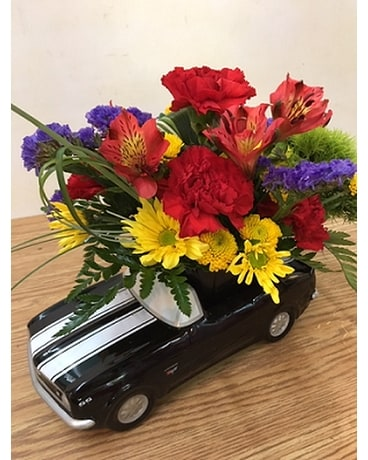 Chevy Power Flower Arrangement