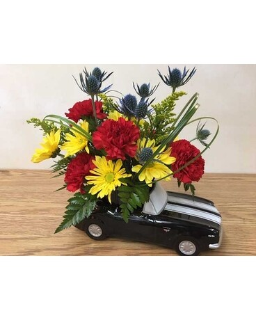 Chevy Camaro Flower Arrangement