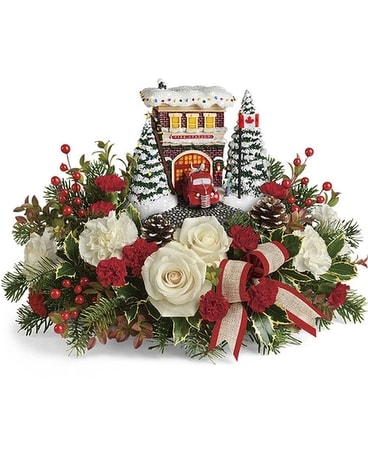 Thomas Kinkade's Hero's Holiday Bouquet Flower Arrangement