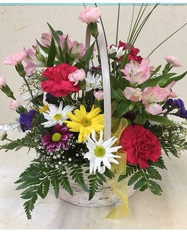 Rainbow Smiles Flower Arrangement