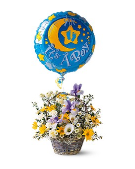 It's a Boy! Basket Flower Arrangement