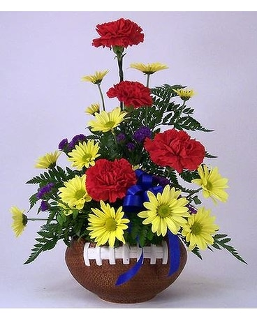Touchdown Football Arrangement Flower Arrangement