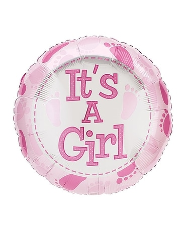 It's A Girl Mylar Balloon Gifts
