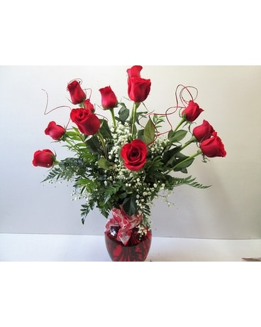 Dozen Long Stemmed Premium Roses (HS-472) Flower Arrangement