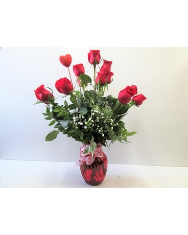 Dozen Long Stemmed Red Roses (HS-471) Flower Arrangement