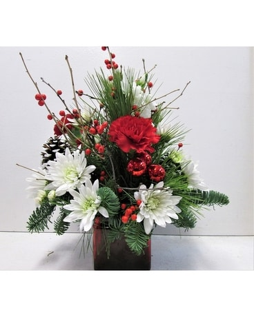 Red Cube Centerpiece (HS-519) Flower Arrangement