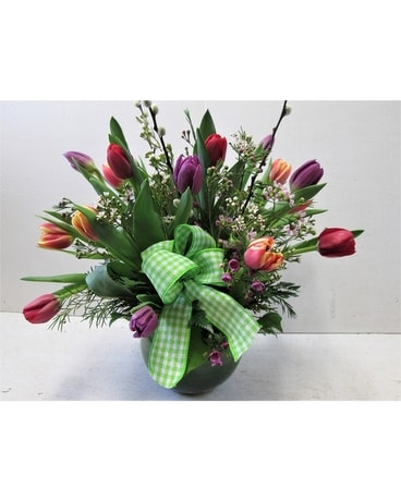 Deluxe Tulip Bowl (HS-715) Flower Arrangement