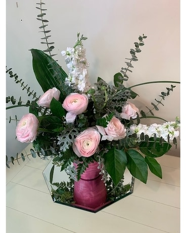 Blush Petals Flower Arrangement