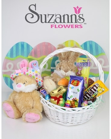 Fruit food baskets delivery upland ca suzanns flowers easter basket negle Images