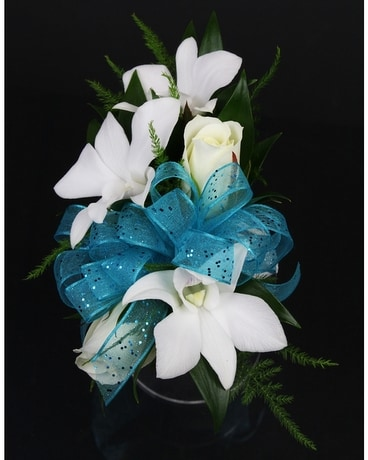 Dendro Orchid and Spray Rose Corsage Corsage