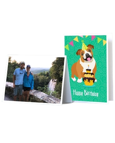 Personalized Greeting Card Flower Arrangement