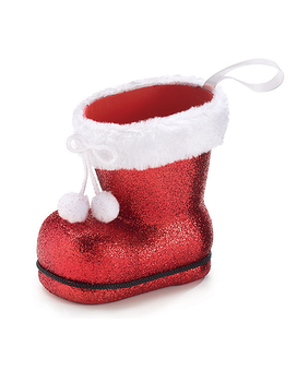 BURTON & BURTON GLITTER SANTA BOOT Flower Arrangement