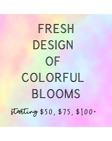 Colorful Fresh Cut Flower Arrangement