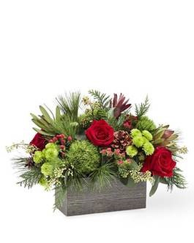 Christmas Cabin Bouquet Flower Arrangement