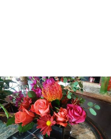 Loving pink orange in detroit mi ashleys flowers loving pink orange flower arrangement mightylinksfo
