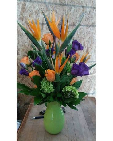 Striking Birds Flower Arrangement