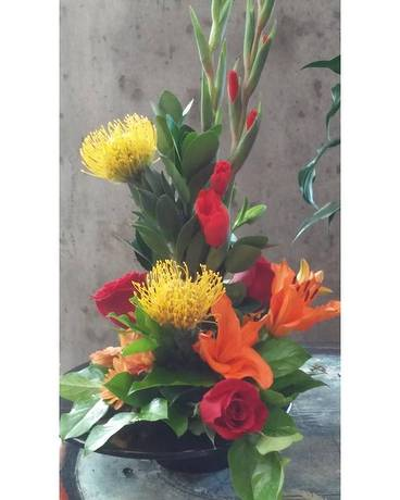 Brite Sophistication Flower Arrangement