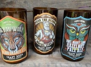 Craft Beer Bottle Candle