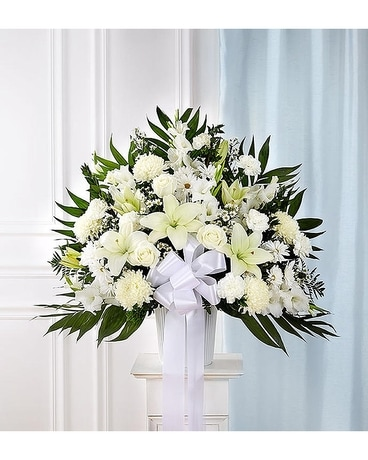 Funeral Basket- All white