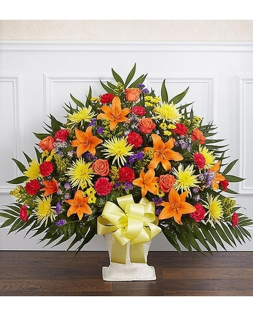 Funeral Basket Bright