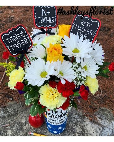 Superhero Teacher Bouquet Flower Arrangement