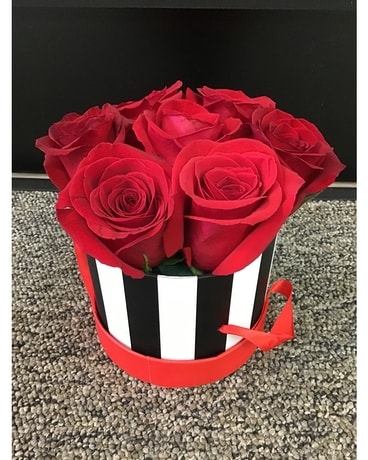 Box Full of Love-Red Roses Flower Arrangement