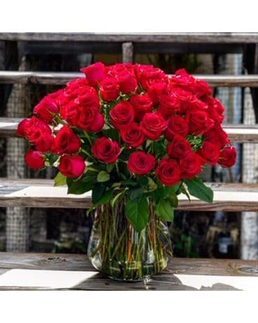 75 Red Roses Flower Arrangement