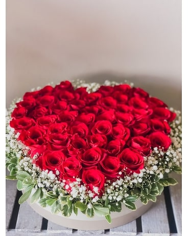 I Heart You (50 Red Roses) Flower Arrangement
