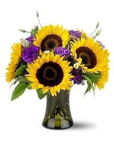 Springtime Sunflowers Flower Arrangement