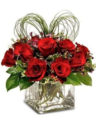 Cupid's Heart Flower Arrangement