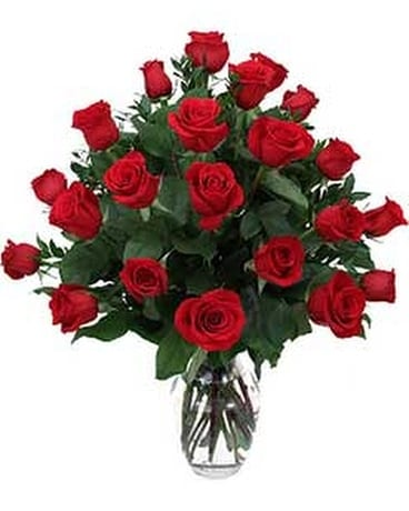 Two Dozen Red Roses Flower Arrangement