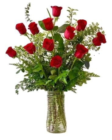 One dozen premium long stemmed red roses Flower Arrangement