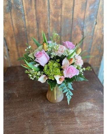 Blushing Pastels Flower Arrangement