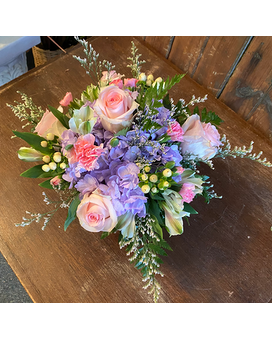 Full Of Pink and Purple Flower Arrangement