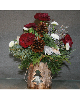 Shimmering Wooden Wonderland Flower Arrangement