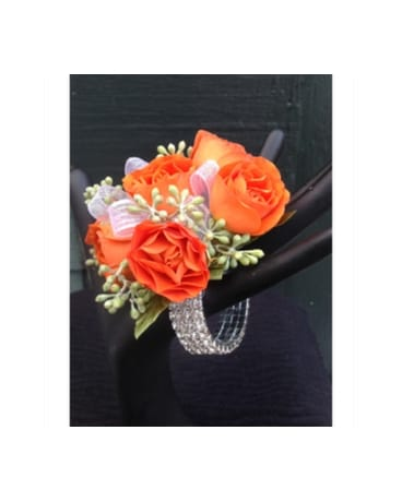 Wrist Corsage With Crystal Bracelet