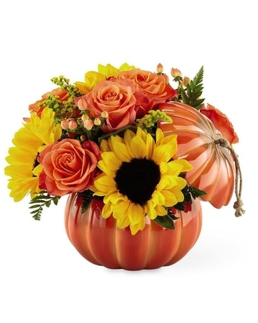 Harvest Traditions Pumpkin Flower Arrangement