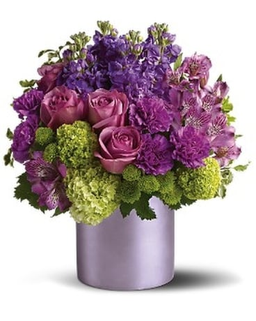 Purple Reign Bq Flower Arrangement