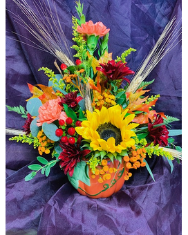 Prairie Pumpkin Flower Arrangement