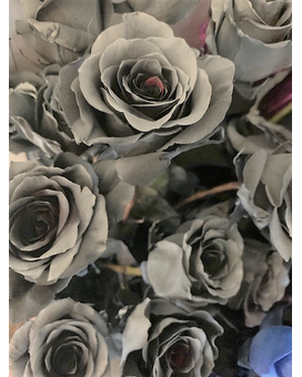 Gray Ghost Roses Flower Arrangement