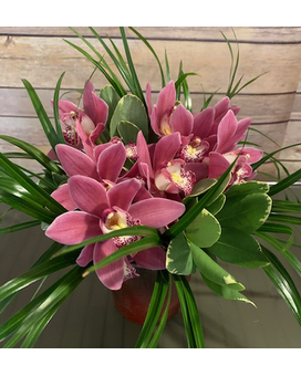 Orchids Nested Flower Arrangement