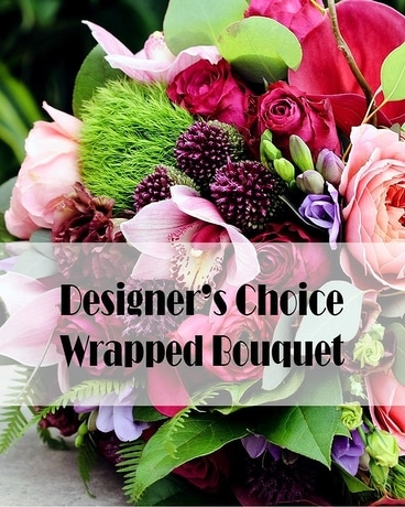 Designer's Choice Wrapped Bouquet Flower Arrangement