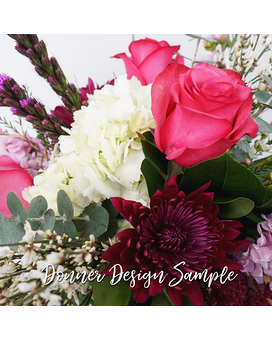Seasonal Surprise // Fresh Fuschia Flower Arrangement
