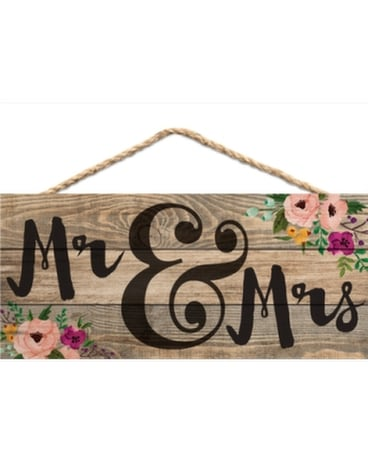 Jute Sign Mr And Mrs In Port St Lucie Fl Flowers By Susan