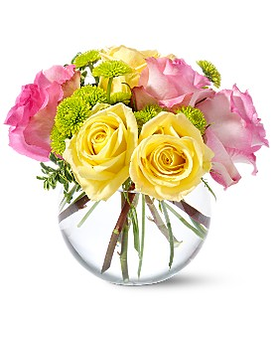 Teleflora's Pink Lemonade Roses Flower Arrangement