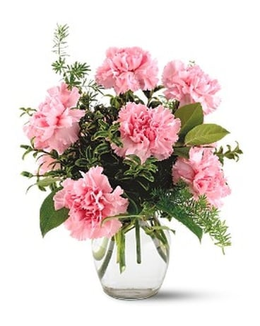 Teleflora's Pink Notion Vase Flower Arrangement