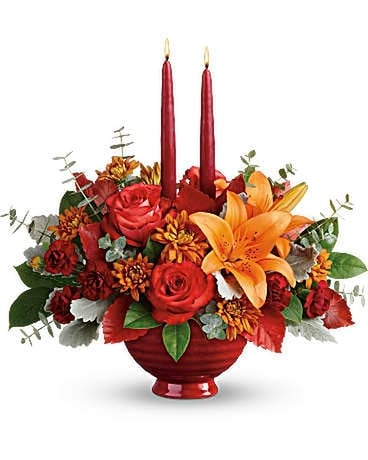 Teleflora's Autumn In Bloom Centerpiece Flower Arrangement